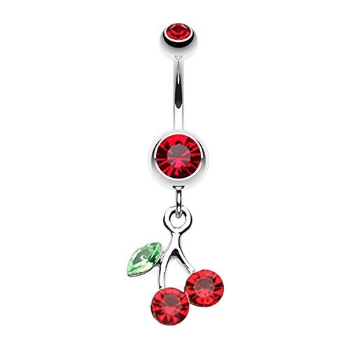 - Lucky Cherry WildKlass Belly Button Ring