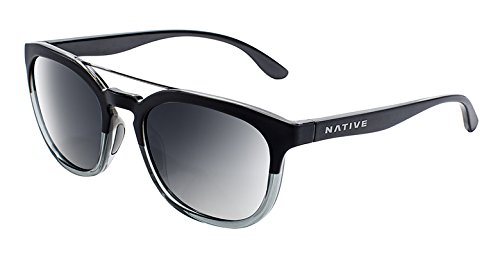 Native Eyewear Sixty-Six Sunglass, Matte Black/Crystal, Silver Reflex by Native Eyewear