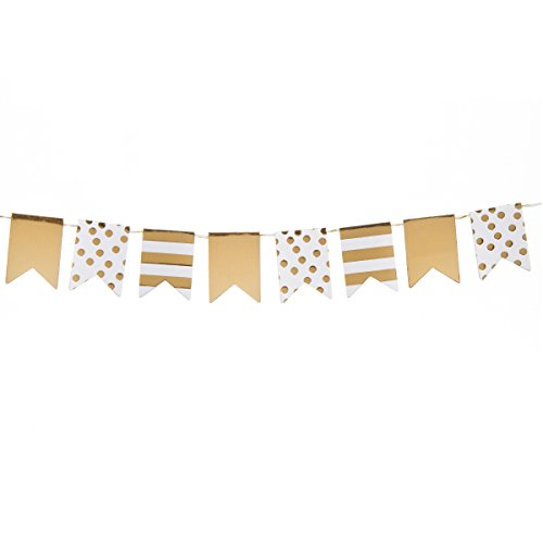 Darice Mini Flag Party Gold - Darice Mini