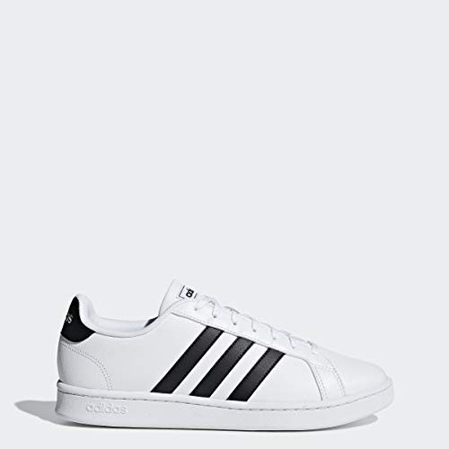 adidas Men's Grand Court, Black/White, 9.5 M US