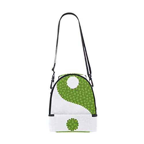 verde doble almuerzo para hombro ajustable de picnic para con color correa Bolso el aqRw0xO5