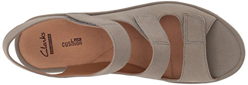 CLARKS Womens Reedly Juno Wedge Sandal, Sage Nubuck, 11 Wide US