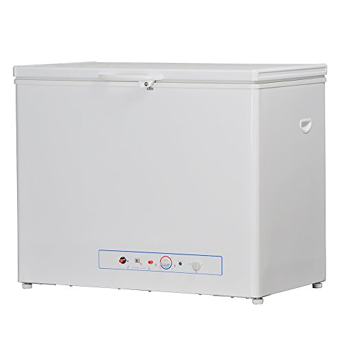 Smad Single Door Chest Freezer Propane Refrigerator with Flame Indicator Low Energy Consumption, 5.7 Cu.Ft, White