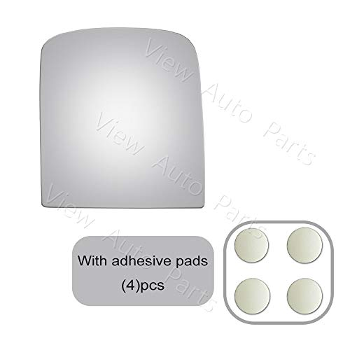 Pukido Upper Replacement Door Mirror Glass+ Adhesive for 07-12 Chevy Silverado & GMC Sierra Passenger Right Side