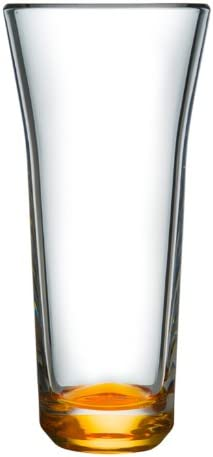 ORREFORS CRYSTAL Karim Rashid TRE Vase Amber