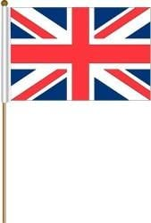 """CANADA 12/"""" X 18/"""" INCH COUNTRY FLAG BANNER ON 2 FOOT WOODEN STICK"""