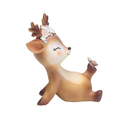 L.DONG Deer Cake Topper Decor 3.9