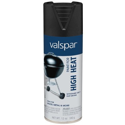 Valspar Brand 465-68004 12 Oz Black High Heat Spray Paint -