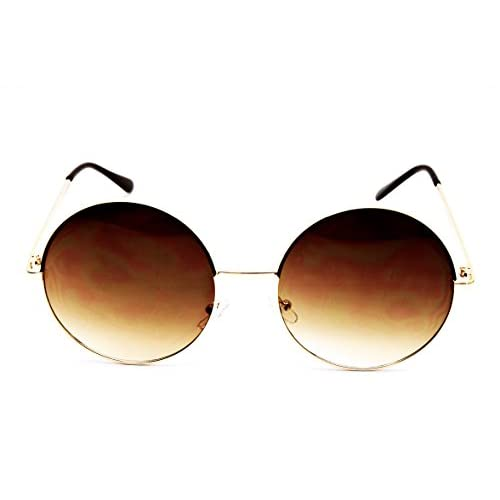 640878a796 V3129-VP Style Vault Metal Frame Crazy Round Oversized Sunglasses hot sale