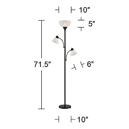 Bingham Black Tree 3-Light Floor Lamp
