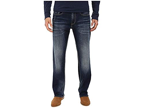 (Buffalo David Bitton Men's Driven Relaxed Straight Leg Jeans in Contrast Vintage Contrast Vintage 44 32)