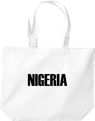 große Bolsa de compra, NIGERIA Land PAÍSES Fútbol Blanco