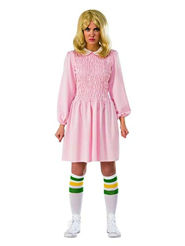 (Rubie's Women's Standard Stranger Things Season 1 Adult Eleven Replica Costume Dress, As As Shown Extra)
