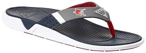 Columbia PFG Men's Rostra PFG Flip-Flop, Collegiate Navy/Intense red, 11 Regular US