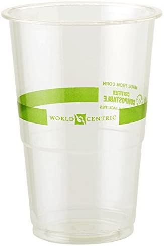 Amazon Com 9 Oz Compostable Biodegradable Plastic Cold Cups 2 000 Count Kitchen Dining