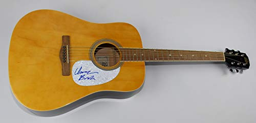 Modest Mouse Good News For People Who Love Bad News Isaak Brock Signed Autographed Wood Full Size Acoustic Guitar Loa