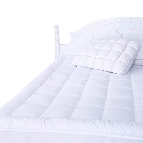Naluka Mattress Pad Queen with Fitted Skirt Ultra Soft Premium Down Alternative Filled Pillowtop Luxury Mattress Topper
