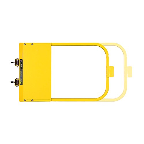 Safety Gate Company Self-Closing Yellow Safety Gate for Square or Round Post Mount 30-36