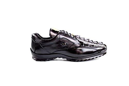 Belvedere Vasco Genuine Hornback Crocodile and Soft Calf Oxford Shoe 14 Black ()