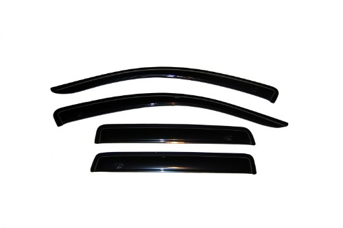 Auto Ventshade 94555 Original Ventvisor Side Window Deflector Dark Smoke, 4-Piece Set for 2007-2010 Mitsubishi ()