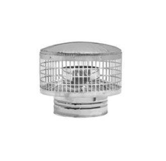 Metal-Fab Stainless Detachable Rain Cap - 8 Inch ()