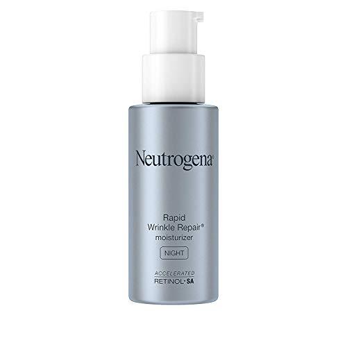 Neutrogena Rapid Wrinkle Repair Anti-Wrinkle Night Accelerated Retinol SA Facial Moisturizer, 1 fl. Oz (4 Pack)