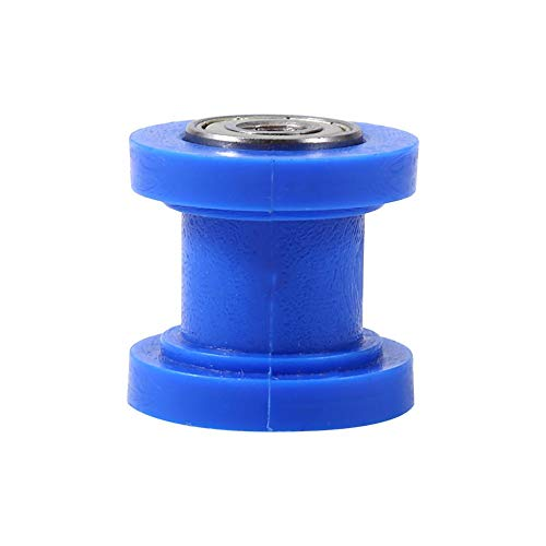 Universal Pulley Tensioner Chain Roller, 10mm Chain Roller Slider Tensioner Wheel Guide for Motorcycle Pit Dirt Mini Bike Atv(Blue)