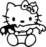zombie seat covers for trucks - Hello Kitty Zombie Decal Vinyl Sticker|Cars Trucks Vans Walls Laptop| BLACK |5.5 x 5.25 in|CCI975