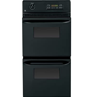 """GE JRP28BJBB 24"""" Black Electric Double Wall Oven"""
