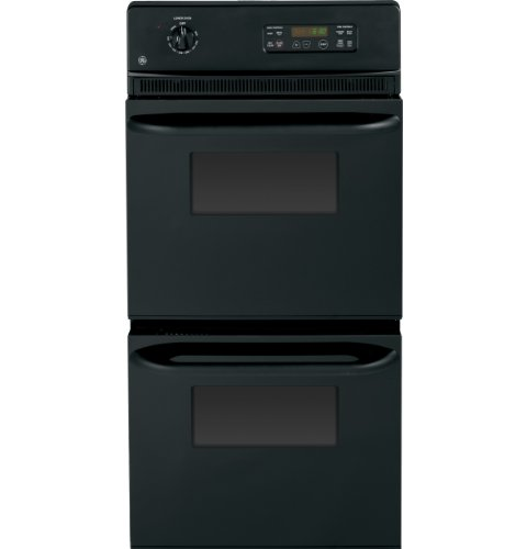 """GE JRP28BJBB 24"""" Built-In Double Electric Wall Oven Black"""