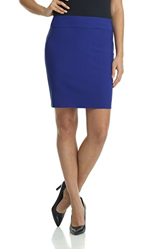 Rekucci Women's Ease Into Comfort Above The Knee Stretch Pencil Skirt 19 inch (XX-Large,Sapphire) ()