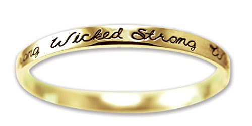 (Cathedral Art Wicked Strong Golden Sentiment Bangle Bracelet)