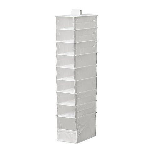 Ikea Hängeregal 119.38 Cm 9 Fächern Weiß Schrank-Zubehör-Halter