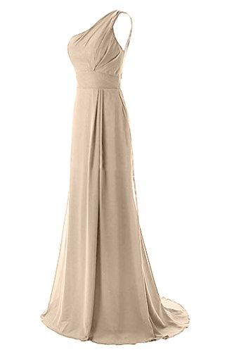 Missdressy - Vestido - plisado - para mujer champán