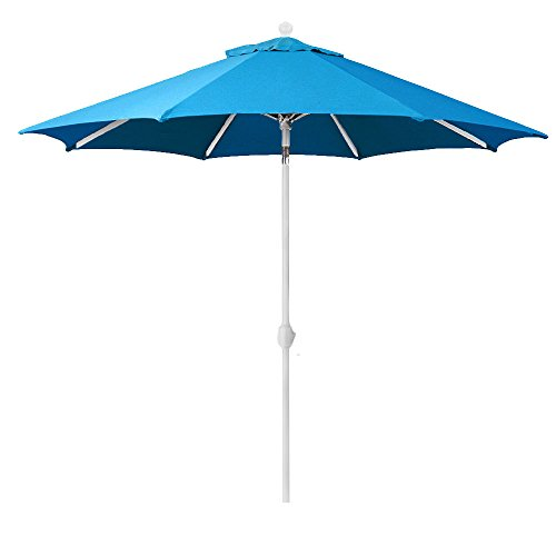 9-Ft Galtech (Model 737) Deluxe Auto-Tilt Umbrella - White Patio Umbrella