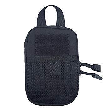 3 colors 1000D Nylon Wallet Bag Pocket Accessory Bag OutdoorParent   Black