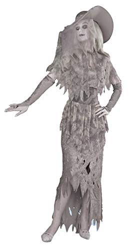 Forum Novelties Women's Ghostly Gal Costume, Gray, X-Large -