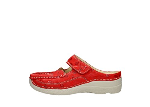 Sneaker Nubuck 12570 Red Wolky Donna wp7OqOZ