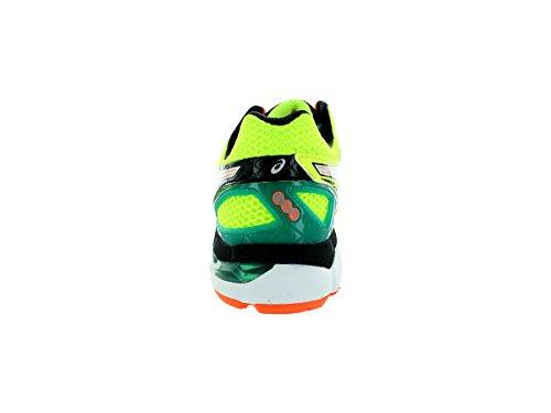 Asics Mens Gt-2000 3 Scarpa Da Corsa Flash Giallo / Argento / Verde Smeraldo