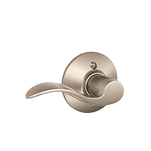Dummy Handle - Schlage Lock Company Accent Left Handed Lever Non-Turning Lock, Satin Nickel (F170 ACC 619 LH)