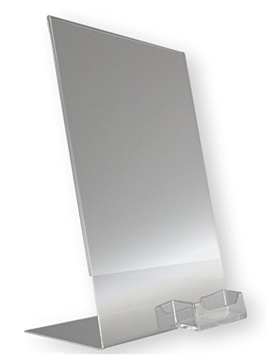 10 Pack of T'z Tagz Brand 8.5''w X11''h Acrylic Slanted Sign Holders with Business Card Holder by T'z Tagz