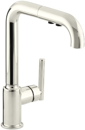 (KOHLER K-7505-SN Purist Primary Pullout Kitchen Faucet, Vibrant Polished)