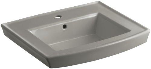 KOHLER K-2358-1-K4 Archer Pedestal Bathroom Sink Basin with Single-Hole Faucet Drilling, Cashmere ()