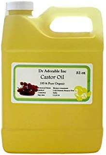 Premium Castor Oil Pure Organic Cold Pressed Virgin 32 Oz 1 Quart 2 LB