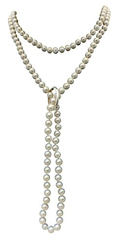 White Shanghai 6-7mm Cultured Pearl 135cm Long Necklace With A Sterling Silver Shortener by Pearls Paradise (Image #8)