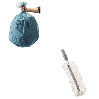 KITRCP501188GRARCPT130 - Value Kit - Rubbermaid-Gray Hiduster Antimicrobial Overhead Duster (RCPT130) and Rubbermaid 5011-88 Tuffmade Polyliner Low-Density Can Liners, 55 Gallons (RCP501188GRA)