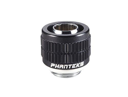 Phanteks PH-STC1310_BK G1/4 Thread Soft Tubing Compression Fitting for 13/10mm Soft Tube (1/2'' OD x 3/8 ID'') Viton O-Ring Black -