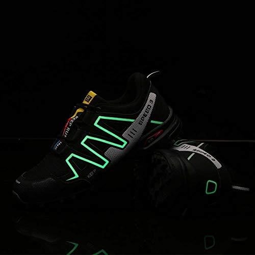 Chaussures Air de Respirant pour l Chaussures Sport Randonnée Hommes Plein de Léger de Black pWv0rqp