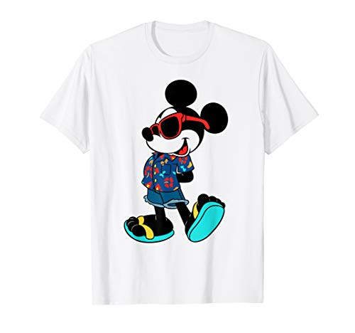 (Disney Mickey Mouse Summer Style Graphic T-Shirt)