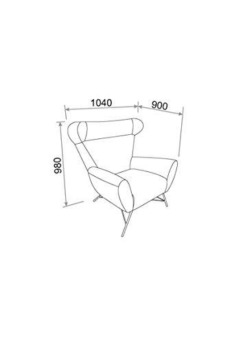 Marque Amazon – Movian Galga – Chaise d'appoint en tissu Dallas, 90x105x98cm (longueurxlargeurxhauteur), Anthracite